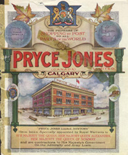 Catalogue cover, Pryce Jones Calgary