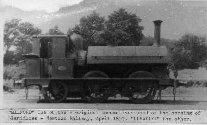 Locomotive on Llanidloes to Newtown railway